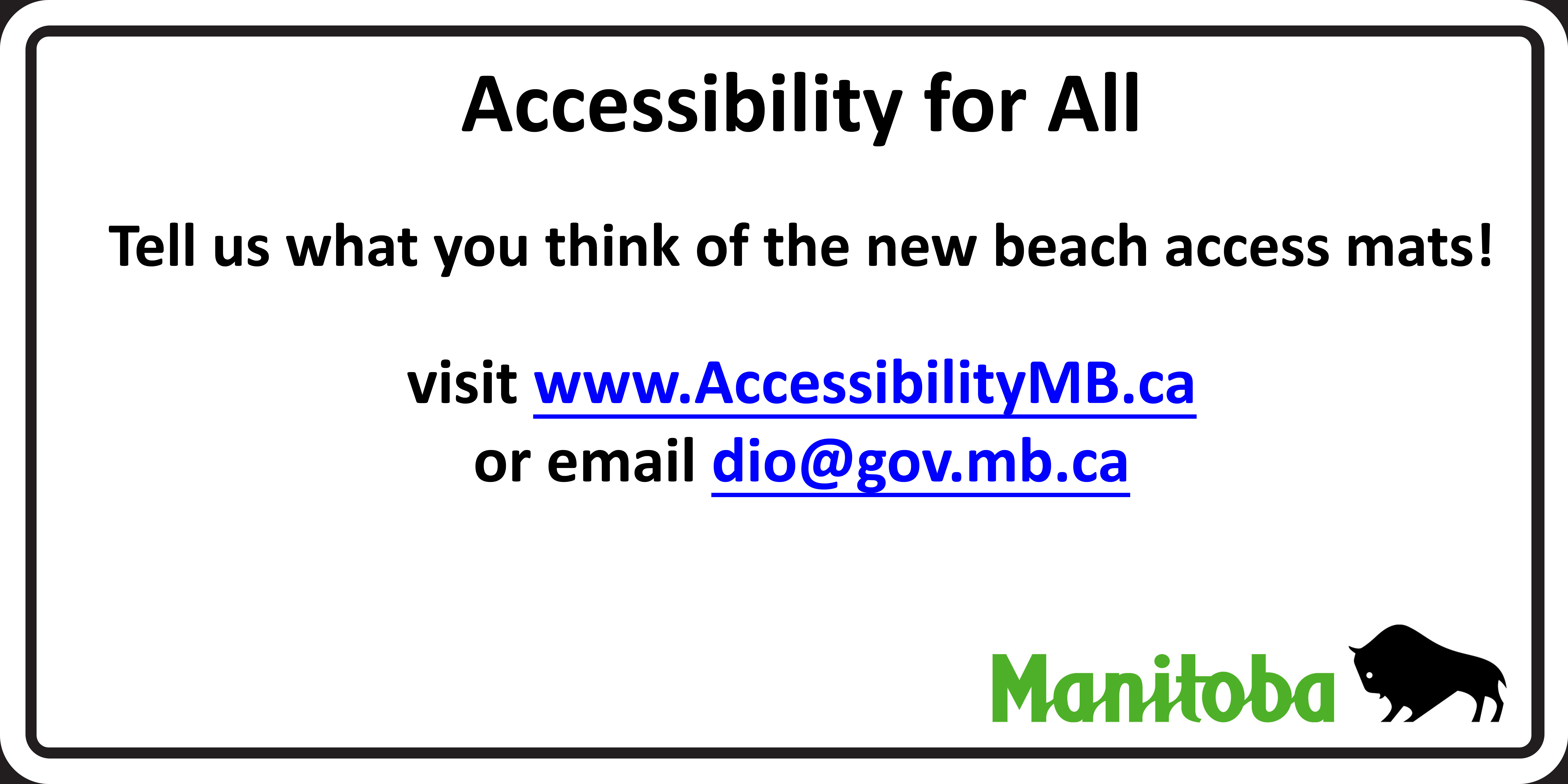 Tell us what you think of the new beach access mats