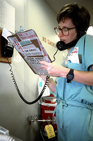 Nurse on the phone with a clipboard 3060430140 by the US Army in Korea.jpg